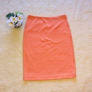 AMERICAN APPAREL pink riding pencil skirt Sz Small